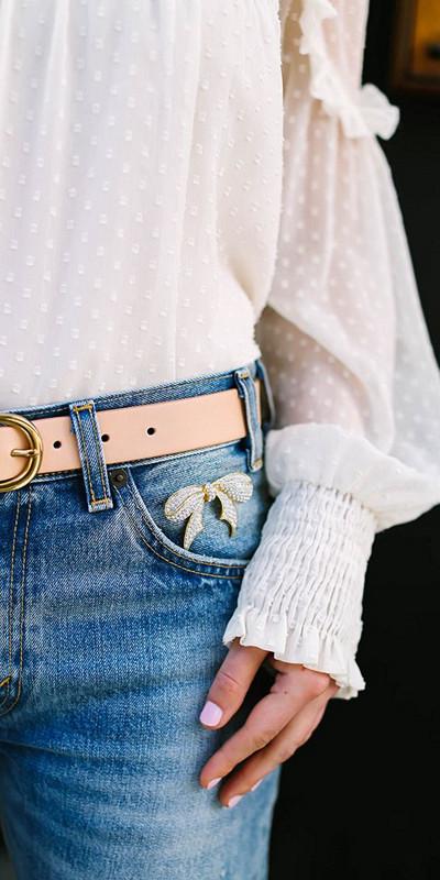 Inspiration pins på jeansen