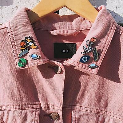 Inspiration pins på jackan