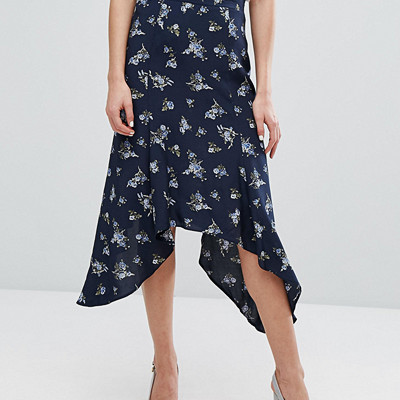 Miss Selfridge kjol med blomprint