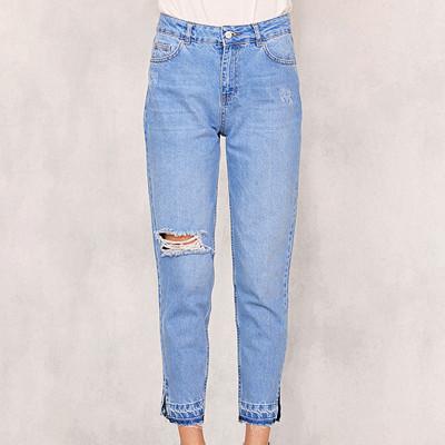Chiquelle jeans med hög midja