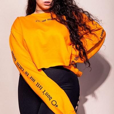 Madlady x Lisa Anckarman gul sweatshirt