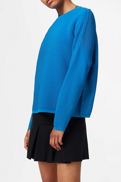 Weekday stickad blå tröja