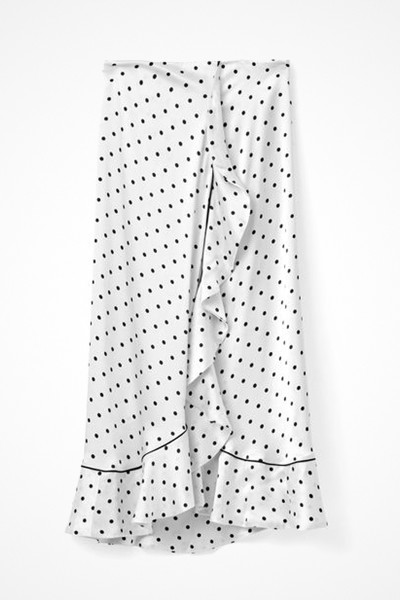 Ganni prickig vit kjol