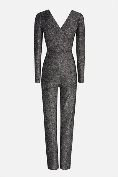 Bik Bok V-ringad jumpsuit i silver