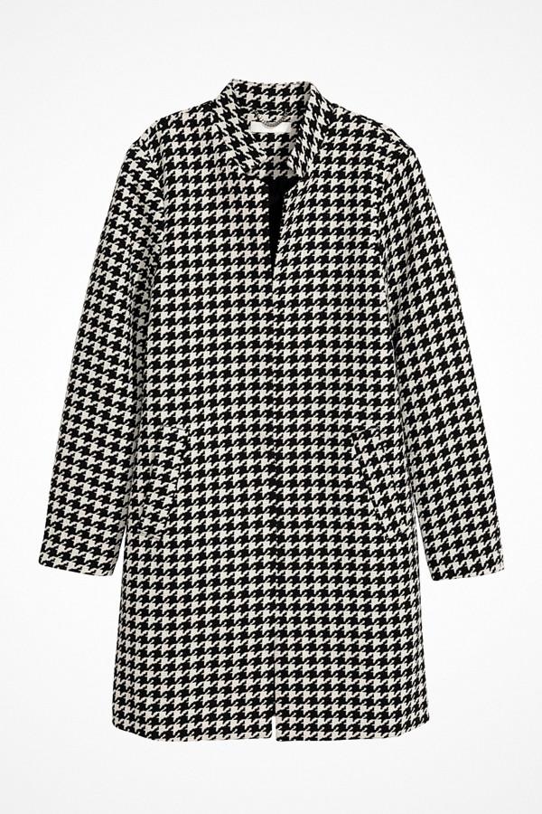 H&M kort hundtandsmönstrad kappa