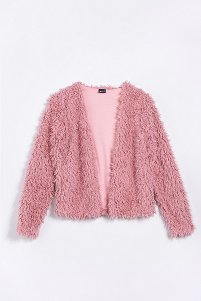 Gina Tricot fluffig rosa fuskpäls