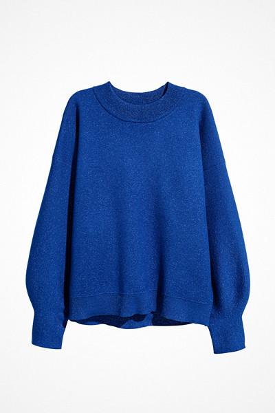 H&M mörkblå och glittrig finstickad tröja