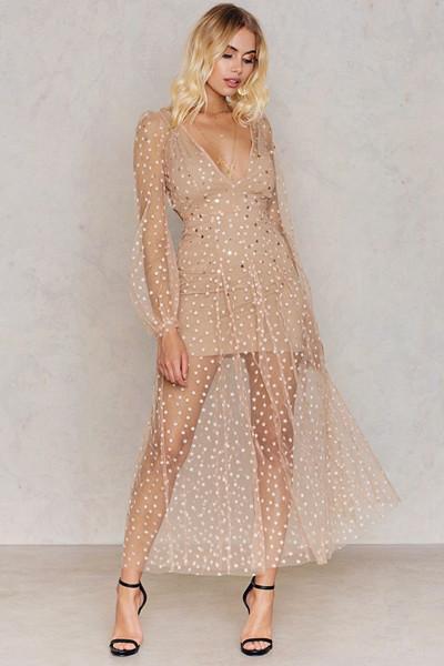 For Love & Lemons klänning med stjärnor