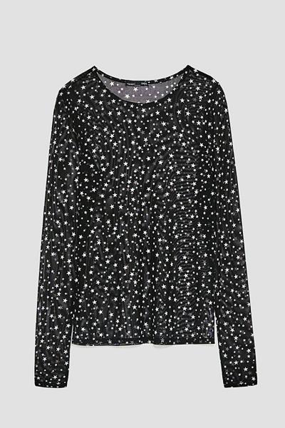 Zara topp med stjärnmönster