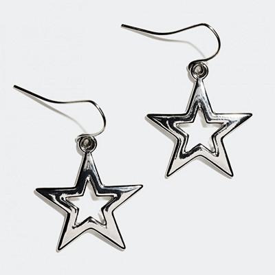 Glitter stjärnformade örhängen