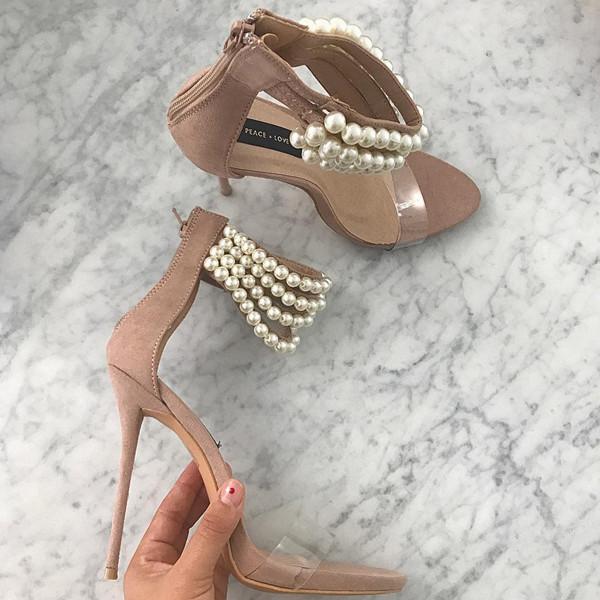 Inspiration skor med pärlor
