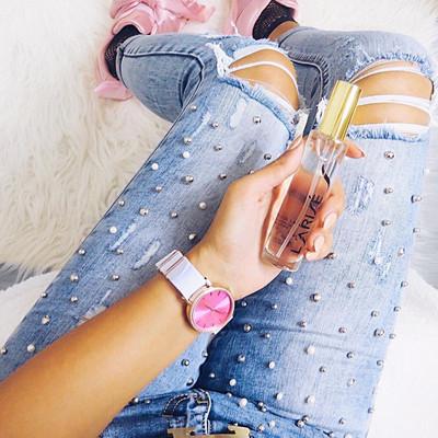 Inspiration jeans med pärlor