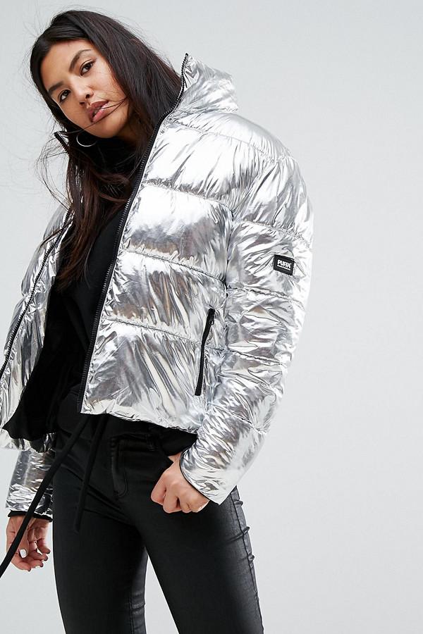 Puffa dunjacka i silver-metallic