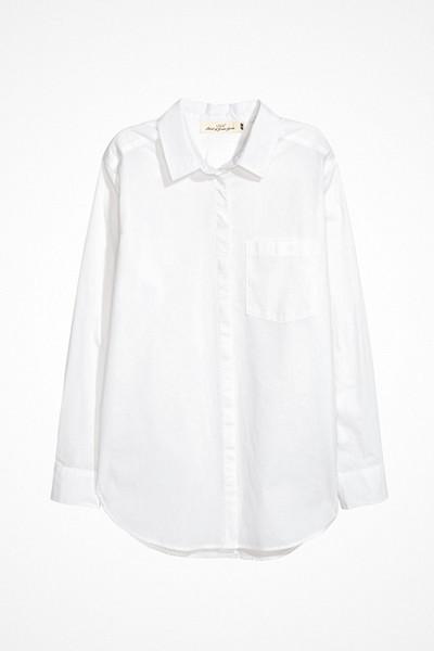 H&M vit bomullsskjorta