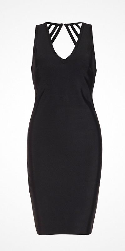 WOW Couture svart fodralklänning