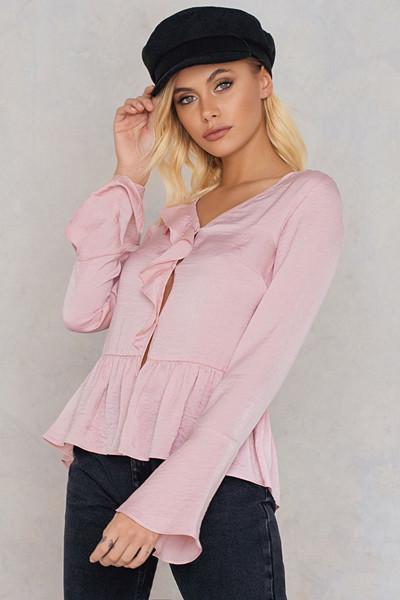 Andrea Hedenstedt x NA-KD rosa blus