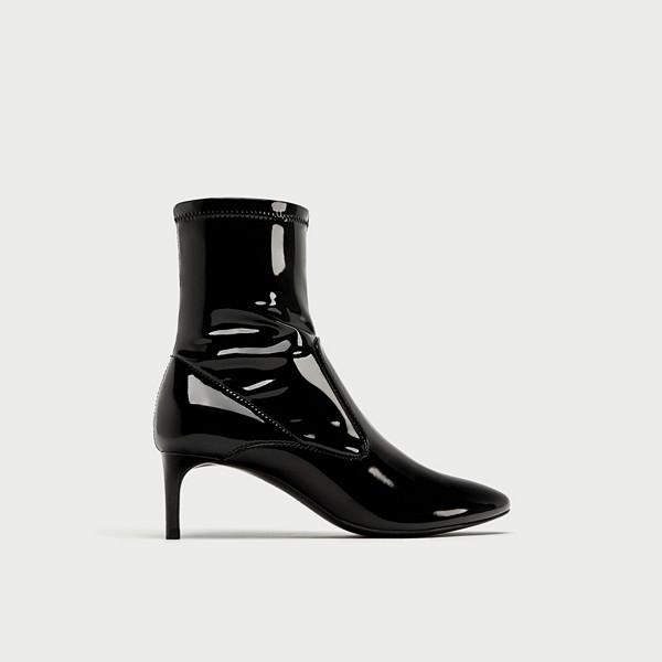 Zara svarta sock-boots