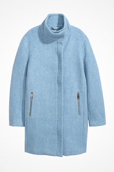 H&M ljusblå kappa