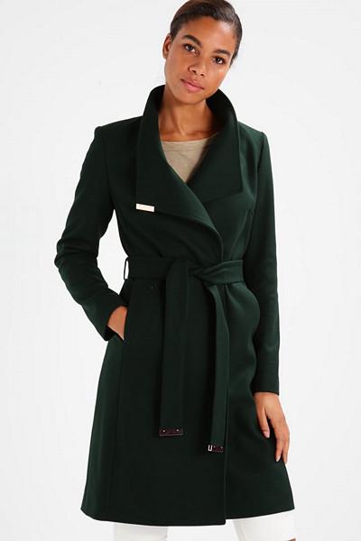 Ted Baker mörkgrön kappa
