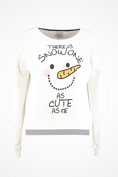 Only gullig tröja med snögubbe