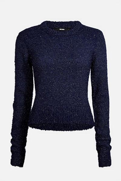 Bik Bok glittrig mörkblå stickad tröja