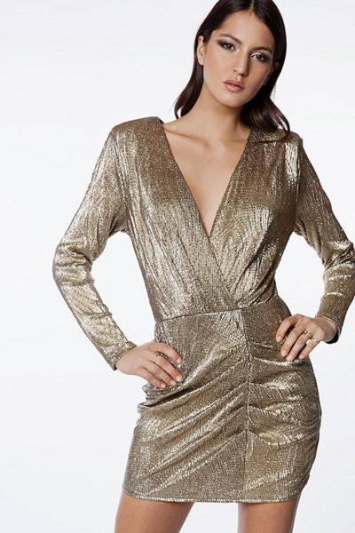Ivyrevel guldglittrig klänning