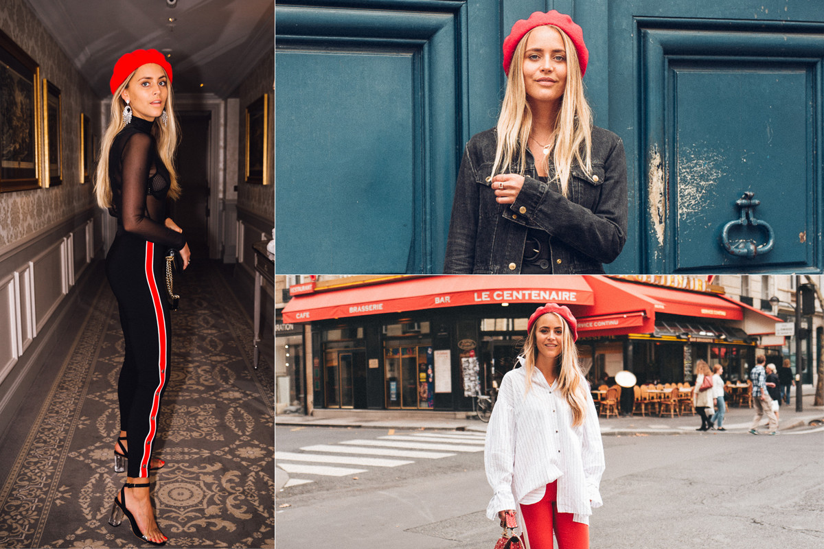 Inspiration röd basker Janni Delér