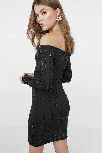Chiquelle svart glittrig klänning