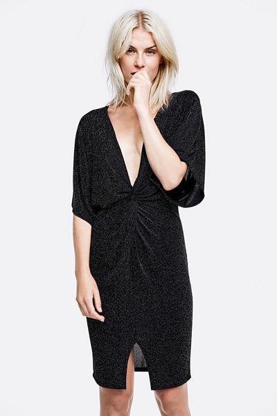 Bik Bok svart glittrig klänning