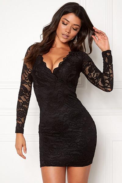 Make Way svart spetsklänning