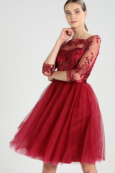 Chi Chi London röd cocktailklänning
