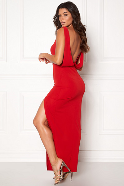 Make Way röd långklänning