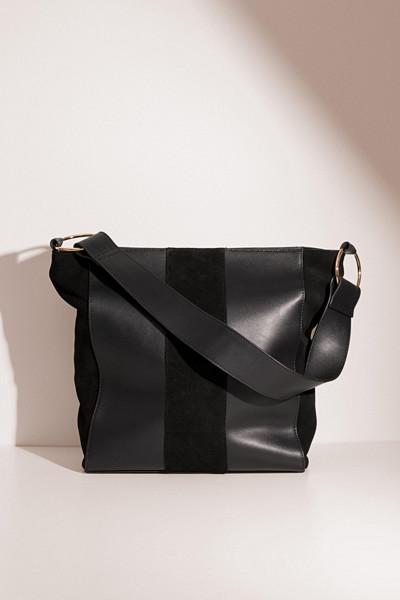 Glitter Aurie handväska i äkta läder