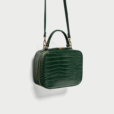 Zara grön axelväska