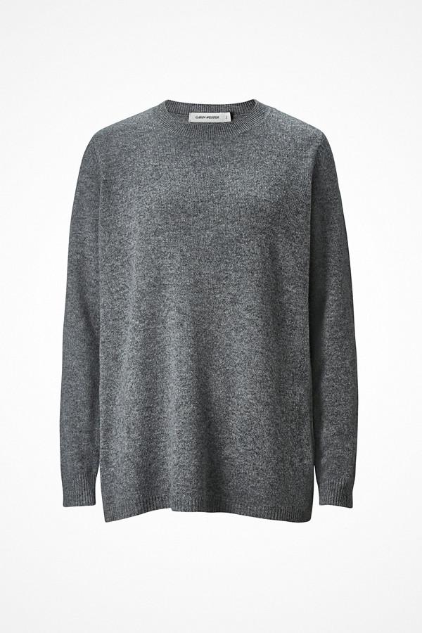 Carin Wester gråmelerad stickad tröja