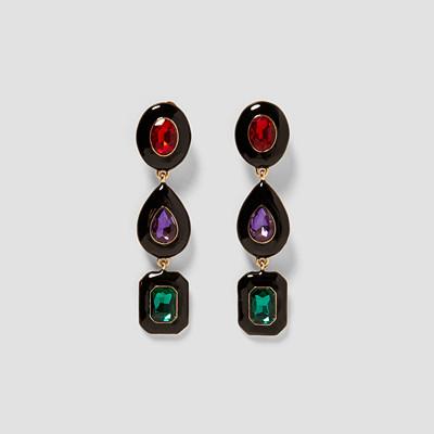 Zara långa örhängen med stenar