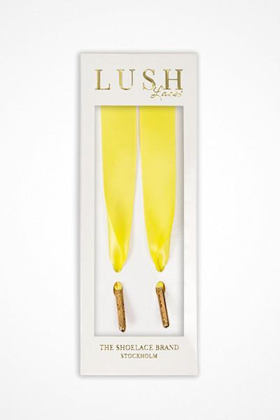Lush Laces gula skosnören Lemon Laces