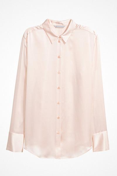 H&M puderrosa sidenskjorta