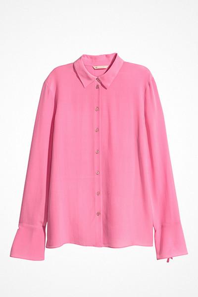 H&M rosa sidenskjorta