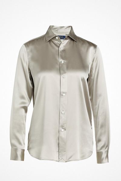Polo Ralph Lauren ljusgrå sidenskjorta