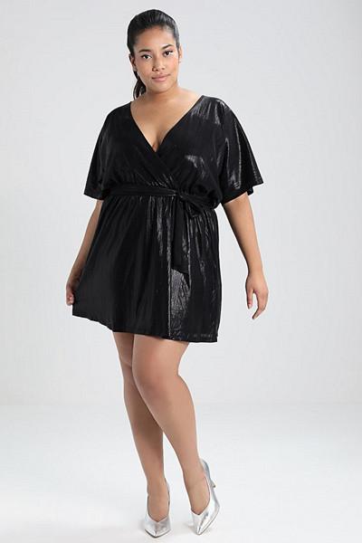 Missguided Plus omlottklänning i glansigt material