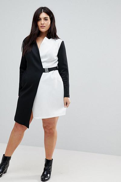 ASOS Curve asymmetrisk klänning