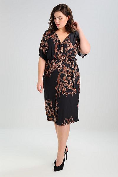 Missguided Plus mönstrad klänning