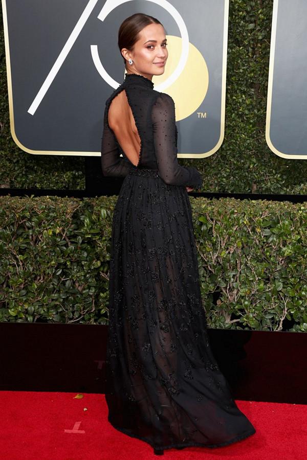 Alicia Vikander på Golden Globes
