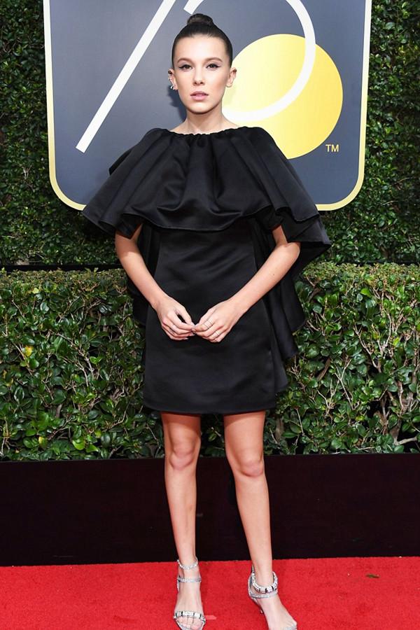 Millie Bobby Brown på Golden Globes