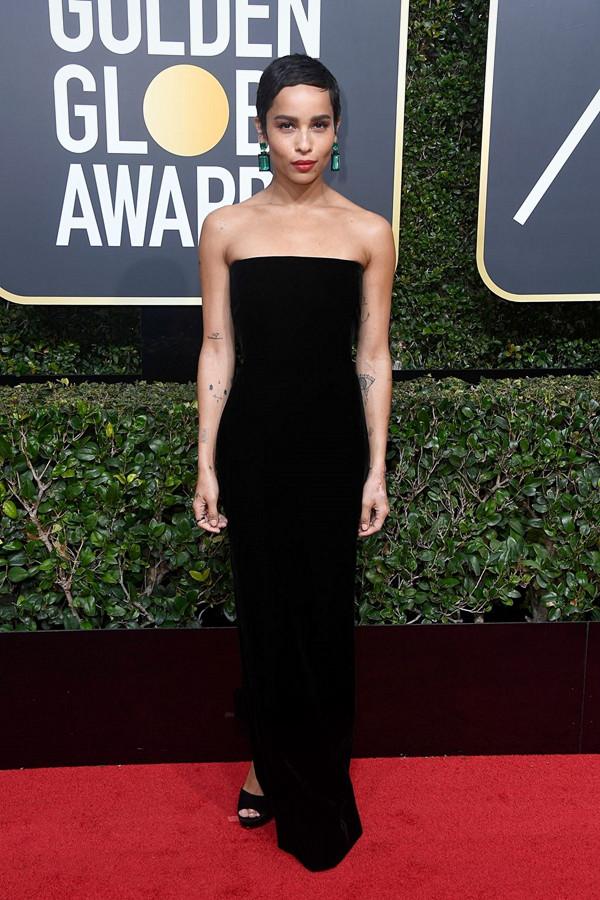 Zoë Kravitz på Golden Globes