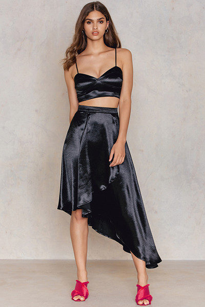 Boohoo Wrap Skirt & Bralet Co-ord set