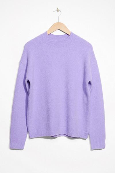 & Other Stories lila stickad tröja