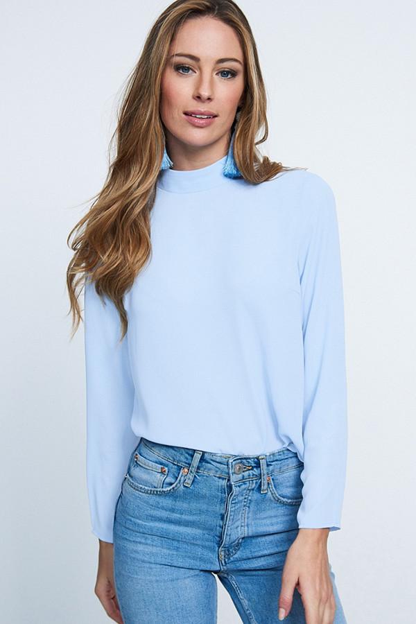 Gina Tricot ljusblå blus Petra