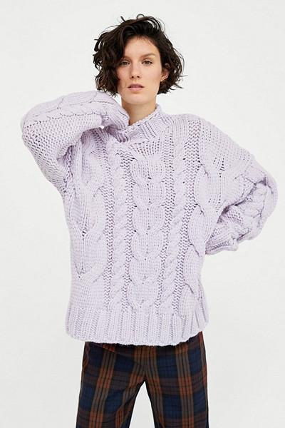 Zara pastellila stickad tröja